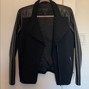 Danier jacket with leather detailing